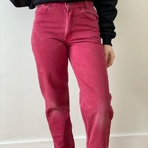 Vintage Student Fit Red Levi's 550's